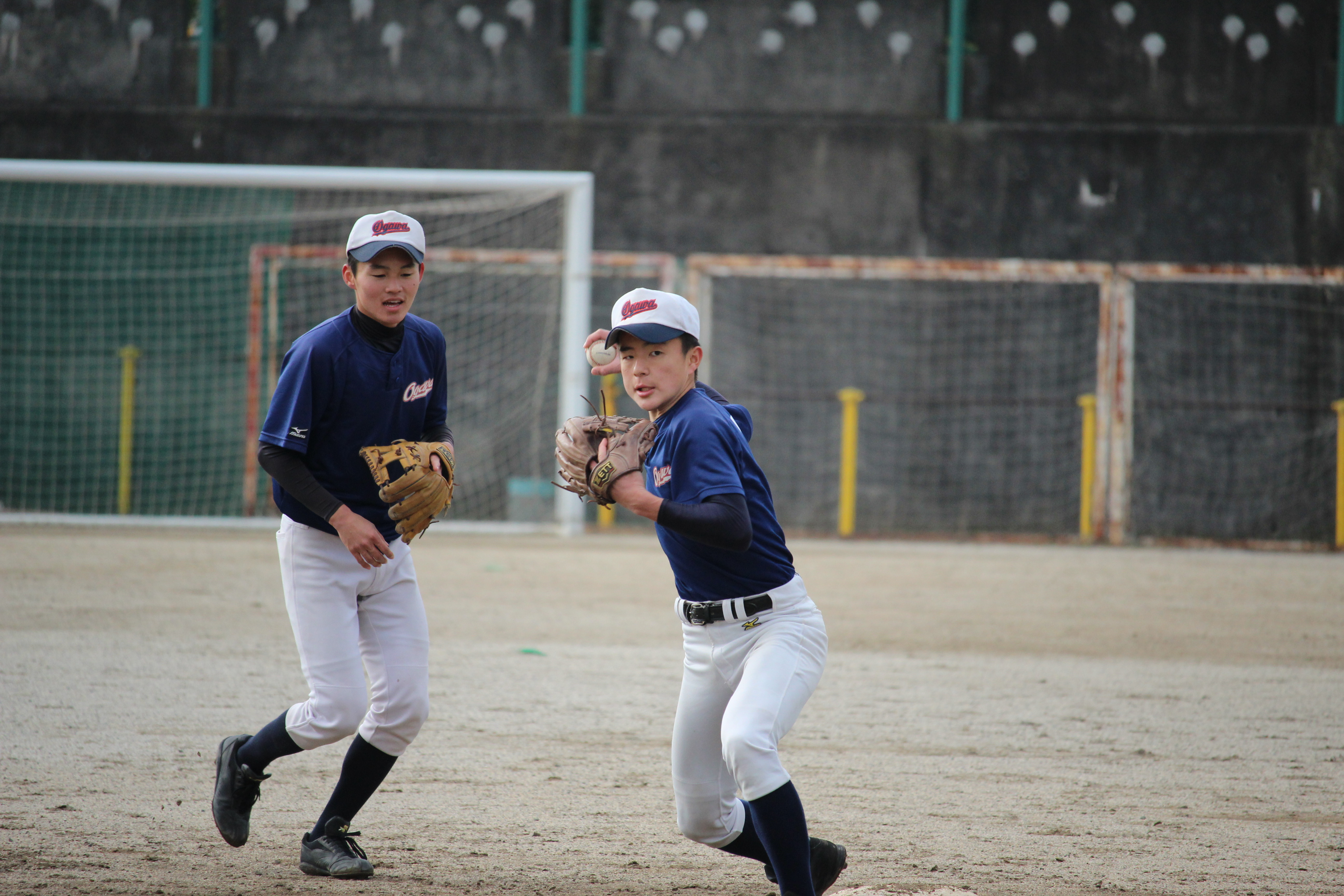 【小川 野球部】内野のボール回し