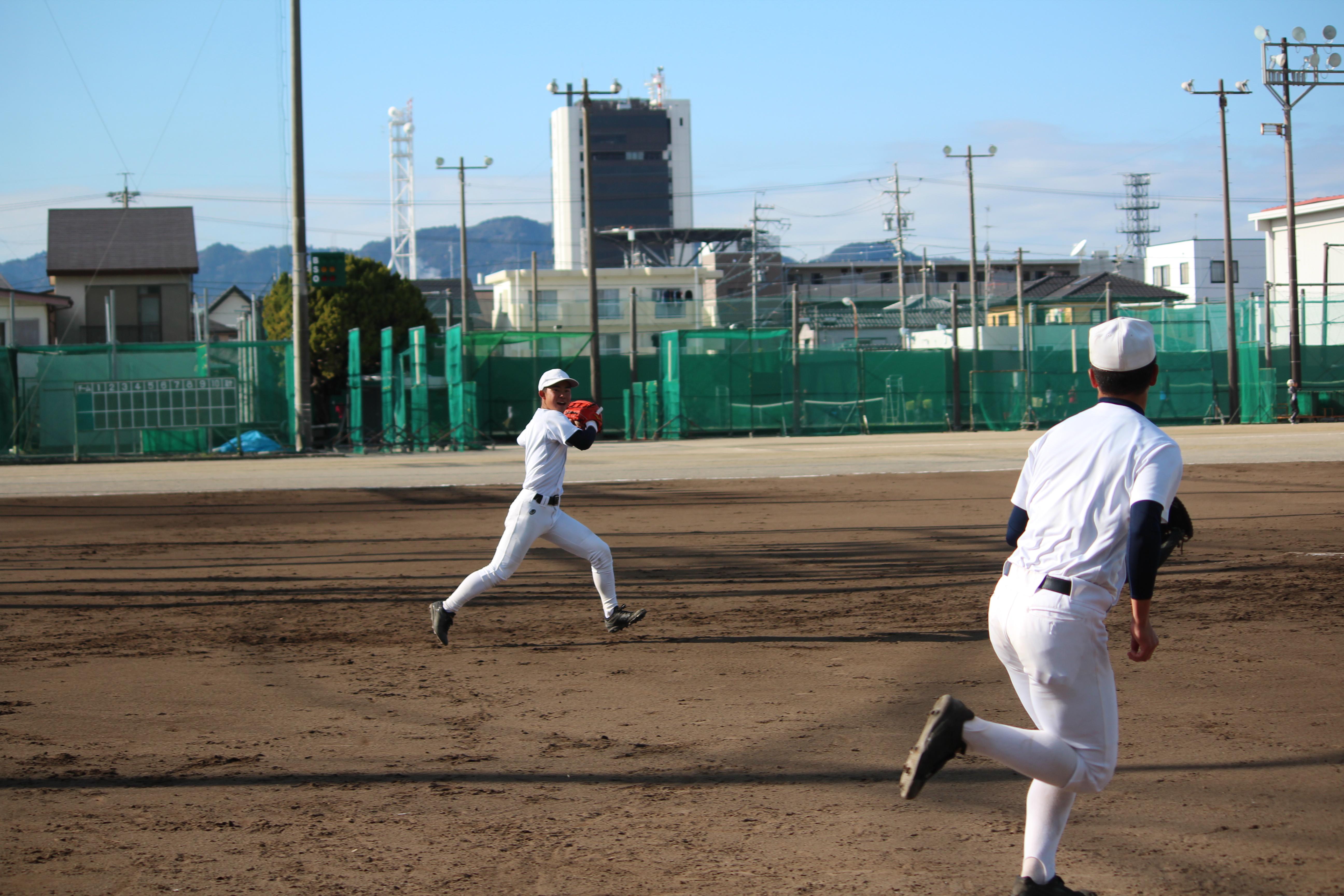 【駿河総合 野球部】ランニングキャッチボール