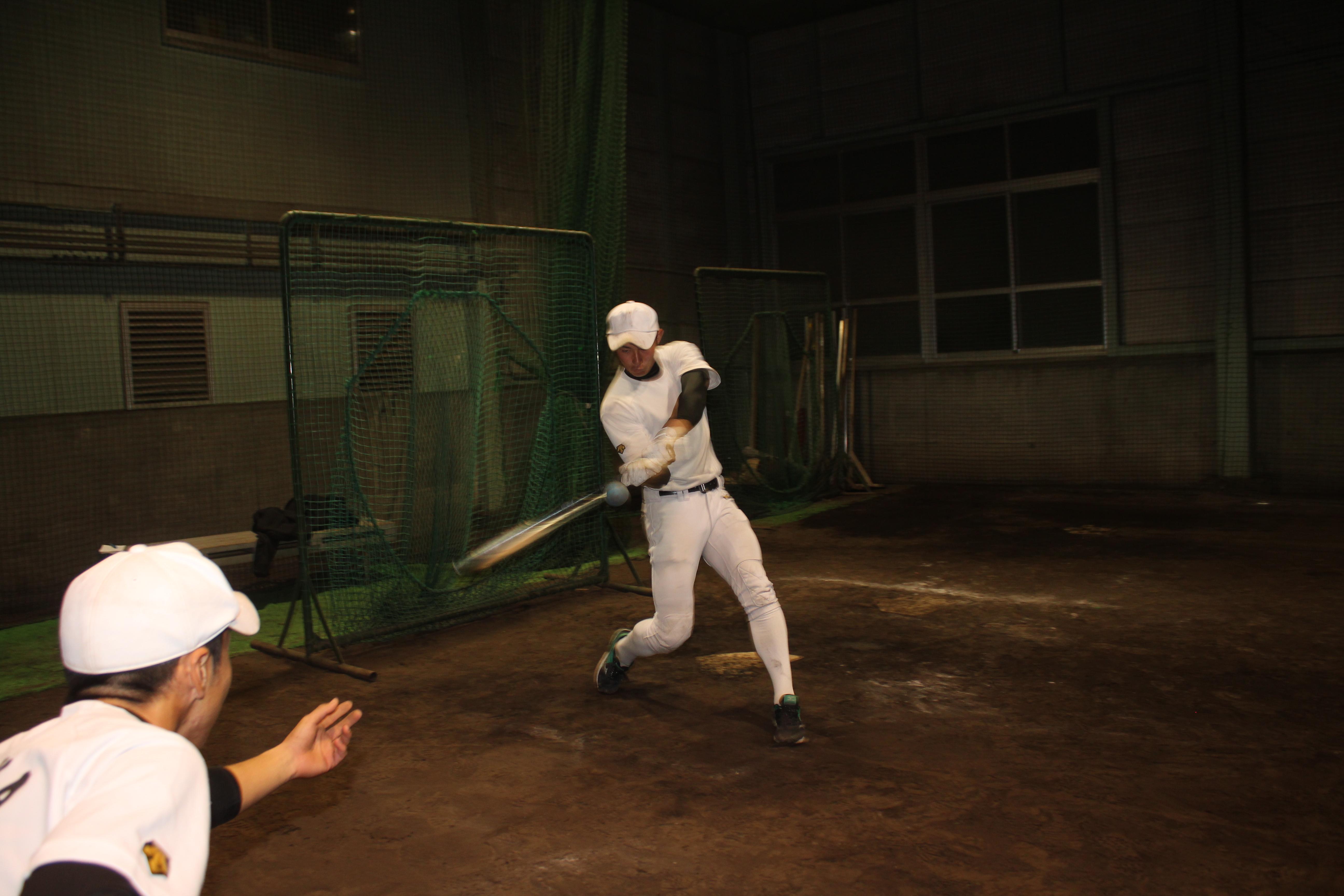 【静岡市立 野球部】サンドボールでのティー打撃
