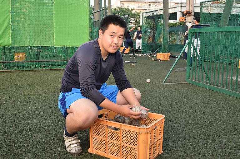【日大 野球部】学生コーチ・黄駿佑(3年)