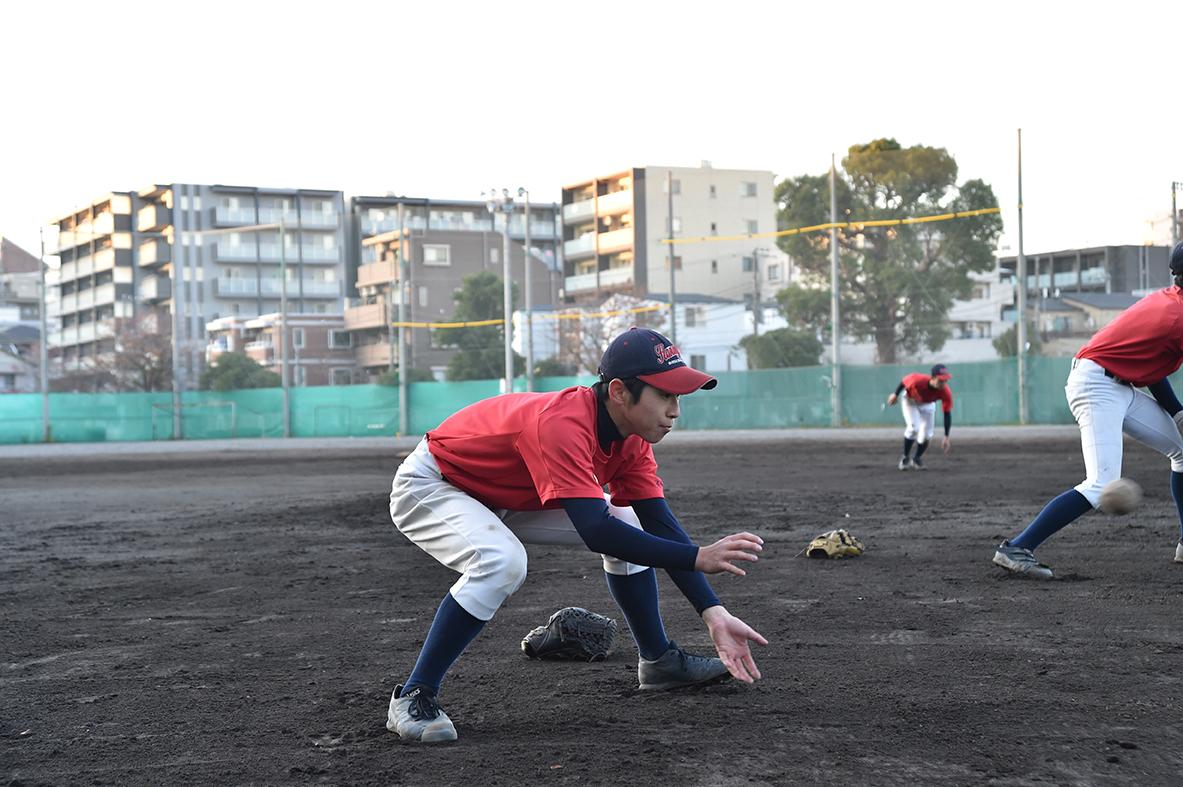 【神奈川工 野球部】素手キャッチボール