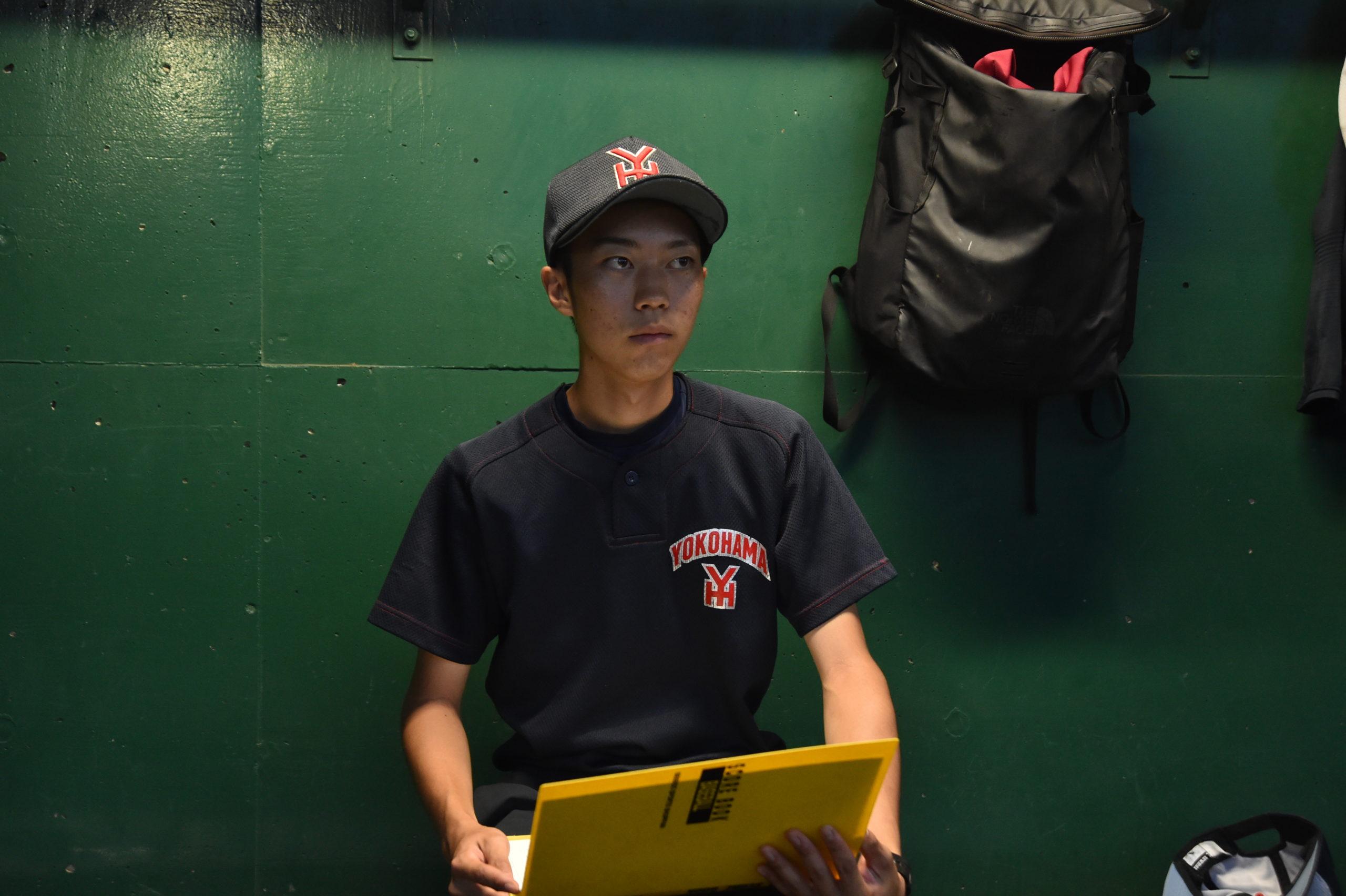 横浜  /  折笠仁樹(3年)名門支える男子マネージャー    コラム #横浜高校